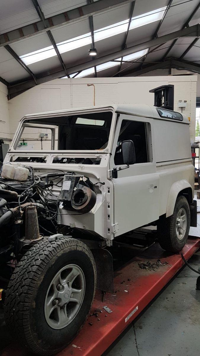 New bulkhead & doors fitted